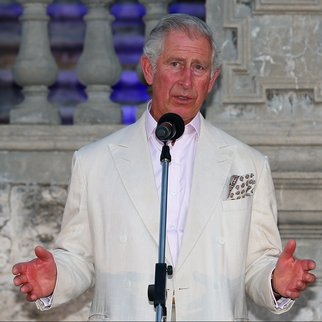 PERTH, AUSTRALIA - NOVEMBER 14: Prince Charles, Prince of Wales addresses invited guests while attending a reception with Camilla, Duchess of Cornwall to celebrate the Prince's birthday at the Cottesloe Civic Centre on November 14, 2015 in Perth, Australia. The Royal couple are on a 12-day tour visiting seven regions in New Zealand and three states and one territory in Australia. (Photo by Paul Kane/Getty Images)