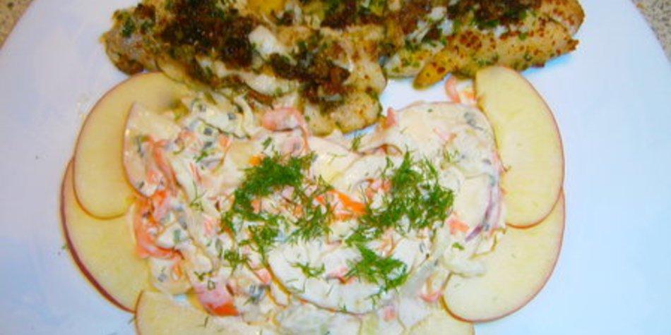 Fenchel-Apfel-Karottensalat