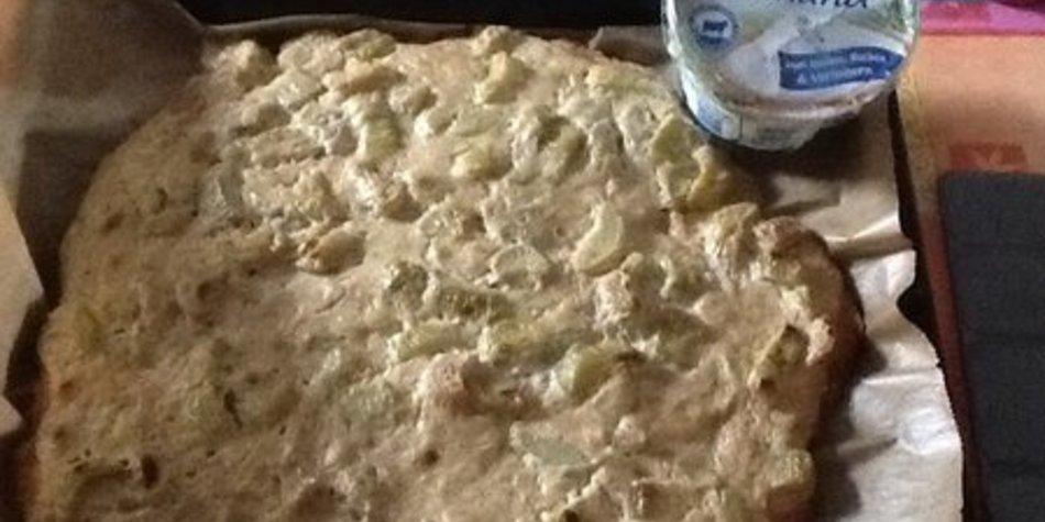 Rharbarberkuchen mit Schmand