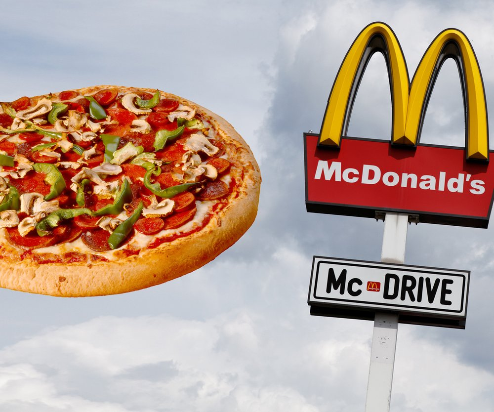 mc donalds pizza