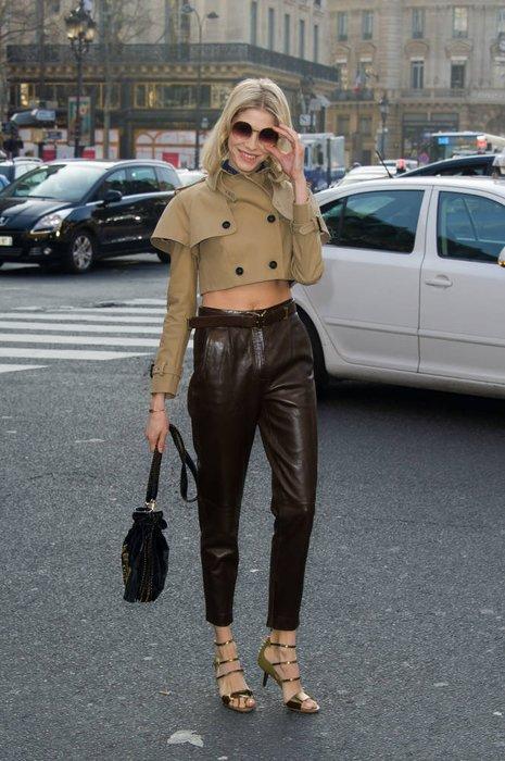 Elena Perminova in Paris