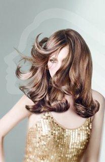 Fransiger Schnitt bei langen Haaren