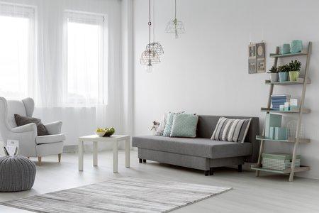 Minimalistisch wohnen Weiße Wände