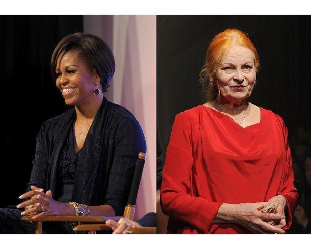 Vivienne Westwood und Michelle Obama