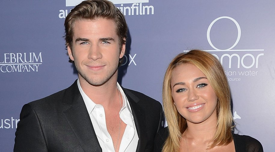 CENTURY CITY, CA - JUNE 27: (L-R) Actors Liam Hemsworth and Miley Cyrus arrive at Australians In Film Awards & Benefit Dinner at InterContinental Hotel on June 27, 2012 in Century City, California. (Photo by Jason Merritt/Getty Images for AIF)