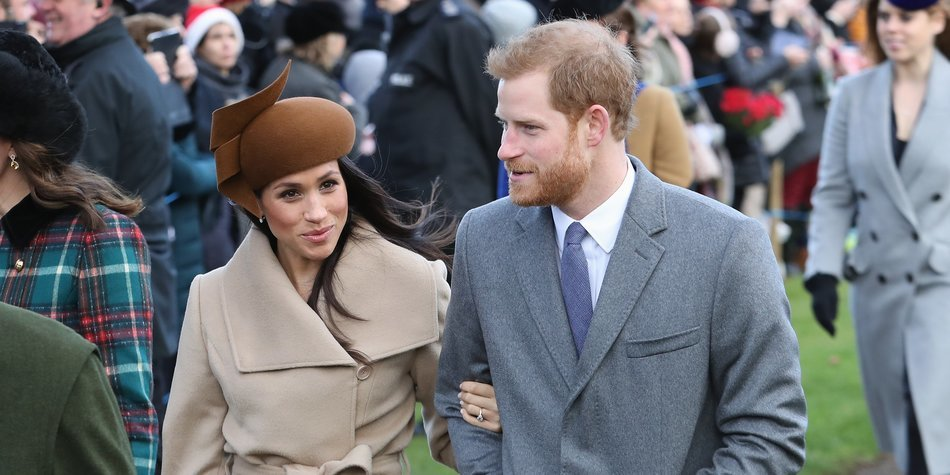 KING'S LYNN, ENGLAND - DECEMBER 25: Meghan Markle and Prince Harry attend Christmas Day Church service at Church of St Mary Magdalene on December 25, 2017 in King's Lynn, England. (Photo by Chris Jackson/Getty Images)