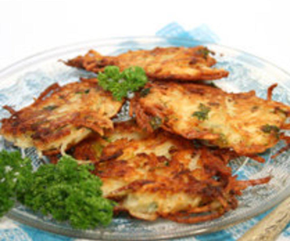Kürbis-Kartoffel-Rösti mit Grillgemüse