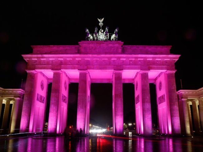 Brandenburger Tor zum Festival of Lights Berlin 2011