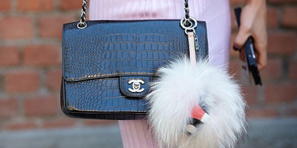 Chanel-Tasche mit Anhänger