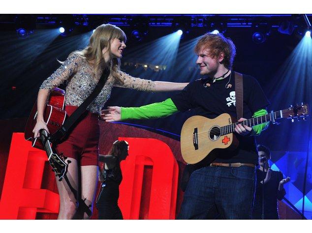 Taylor Swift und Ed Sheeran bei einem gemeinsamen Auftritt in New York
