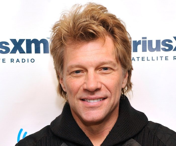 "NEW YORK, NY - FEBRUARY 04: Jon Bon Jovi attends ""SiriusXM's Town Hall with Jon Bon Jovi"" and moderator Savannah Guthrie at the SiriusXM studios on February 4, 2013 in New York City. (Photo by Stephen Lovekin/Getty Images for SiriusXM)"