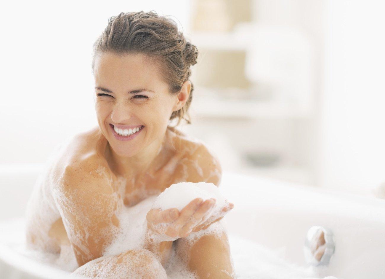 Natürlicher Badeschaum als reichhaltige Pflege