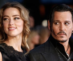 "LONDON, ENGLAND - OCTOBER 11: Amber Heard and Johnny Depp attend the ""Black Mass"" Virgin Atlantic Gala screening during the BFI London Film Festival, at Odeon Leicester Square on October 11, 2015 in London, England. (Photo by John Phillips/Getty Images for BFI)"