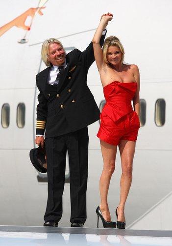 Kate Moss tanzt mit Virgin-Chef