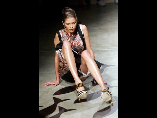 Model auf dem Catwalk