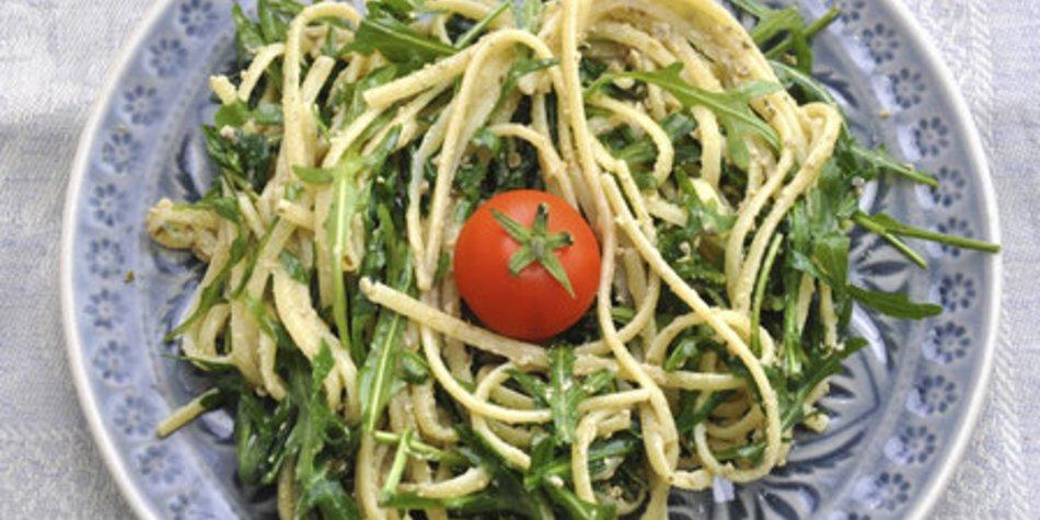 Spaghettisalat mit Rucola