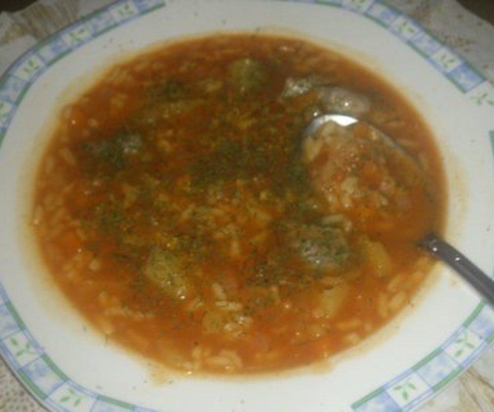 Hartscho-Tomaten Reissuppe
