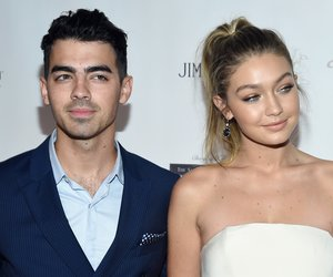 "NEW YORK, NY - OCTOBER 08: Joe Jonas (L) and Gigi Hadid attend the Global Lyme Alliance ""Uniting for a Lyme-Free World"" Inaugural Gala at Cipriani 42nd Street on October 8, 2015 in New York City. (Photo by Dimitrios Kambouris/Getty Images for Global Lyme Alliance)"