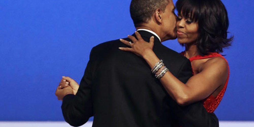 Die First Lady Michelle Obama sah am Abend der Wieder-Vereidigung des US-Präsidenten Barack Obama umwerfend aus.