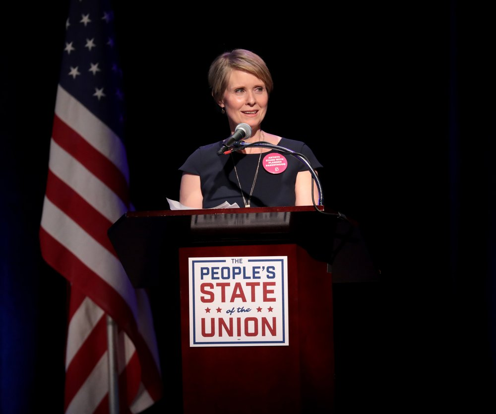 Cynthia Nixon gibt Kandidatur bekannt