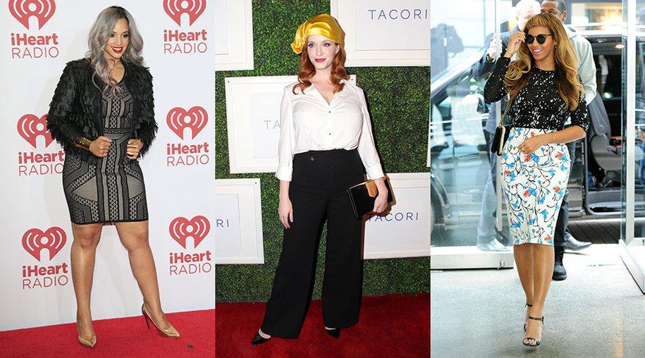 Diese Hollywood-Damen machen es vor: Dascha Polanco, Christina Hendricks, Beyoncé und Co. zeigen, welche Fashion-Trends an kurvigen Frauen noch schöner aussehen!