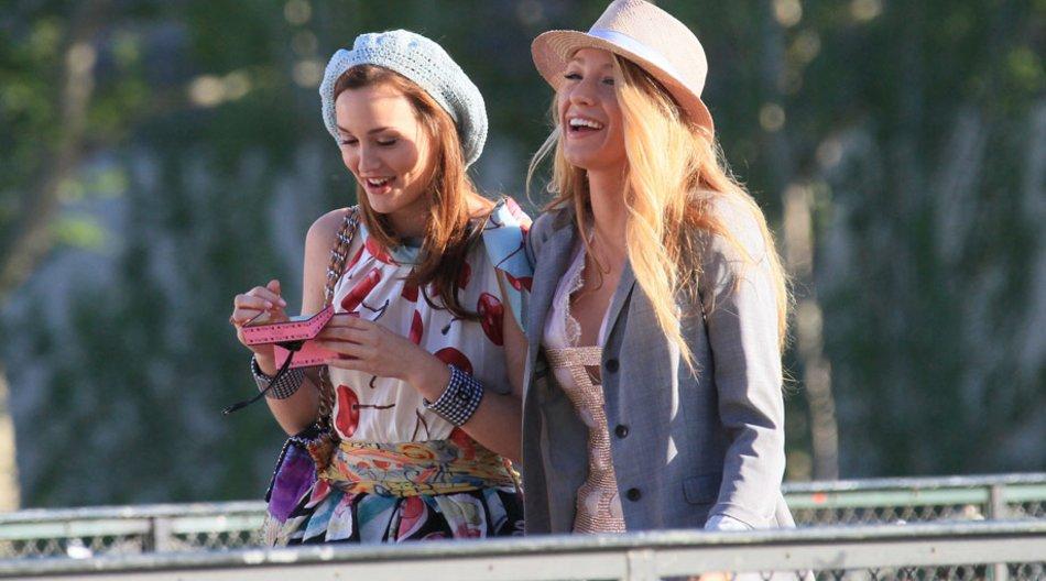 Blake und Leighton lachen