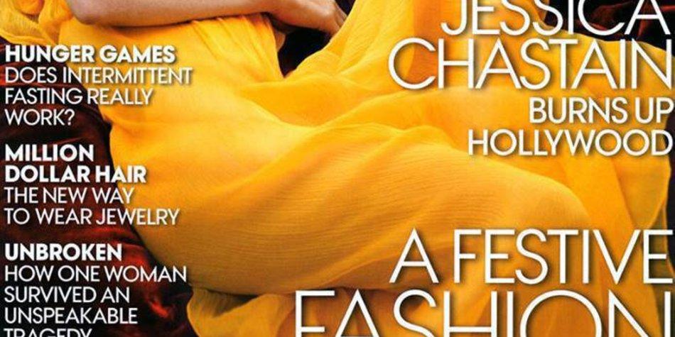 Jessica Chastain posiert für die Vogue