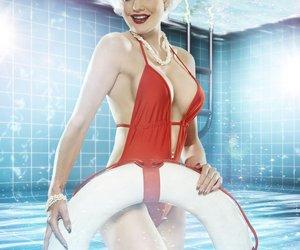 Pool Champions: Melanie Müller steht auf Wasserspielchen