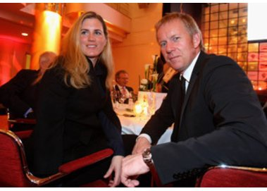 Johannes B. Kerner und seine Frau Britta