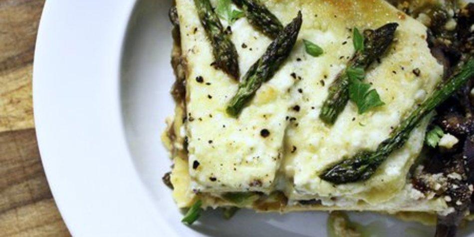 Spargel Lasagne
