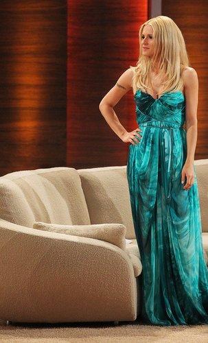 Michelle Hunziker während einer Fernsehmoderation.