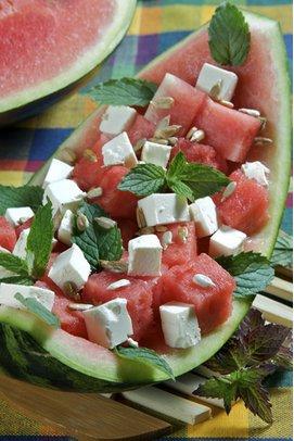 Rezepte für einen leichten Salat mit Melone