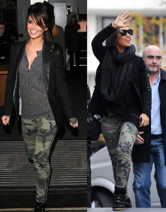 Cheryl Cole und Alicia Keys im Camouflage-Look