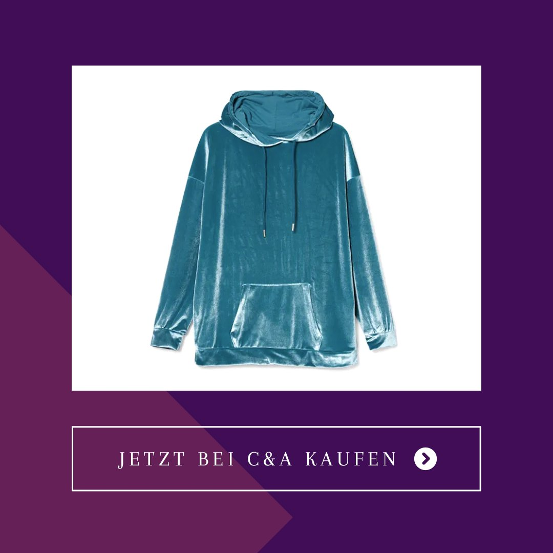 c&a velours hoodie