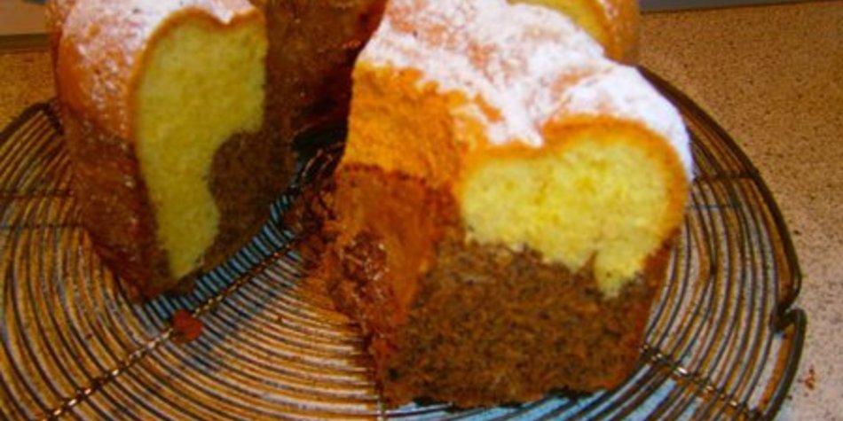 Marmorkuchen mit Mohn