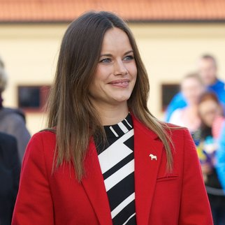 FALUN, SWEDEN - OCTOBER 05: Princess Sofia of Sweden visits the Falun Mine world heritage site during the first day of a two day trip to Dalarna on October 5, 2015 in Falun, Sweden. (Photo by Ragnar Singsaas/Getty Images)