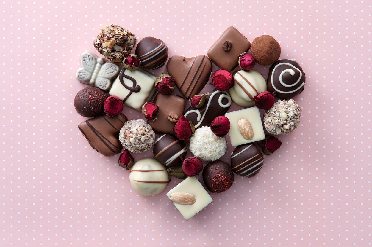Valentinstag Pralinen