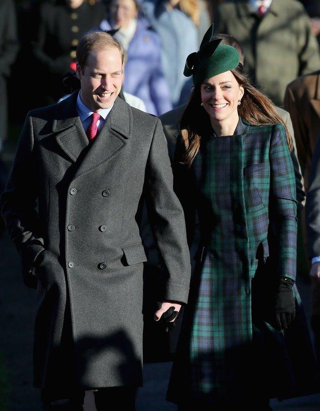 Kate Middleton und Prinz William bei einem Gottesdienstbesuch