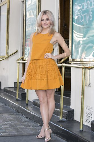 LONDON, ENGLAND - JANUARY 28: Pixie Lott play's Holly Golightly in a new stage adaptation of Truman Capote's Breakfast at Tiffany's on January 28, 2016 in London, England. (Photo by John Phillips/Getty Images)