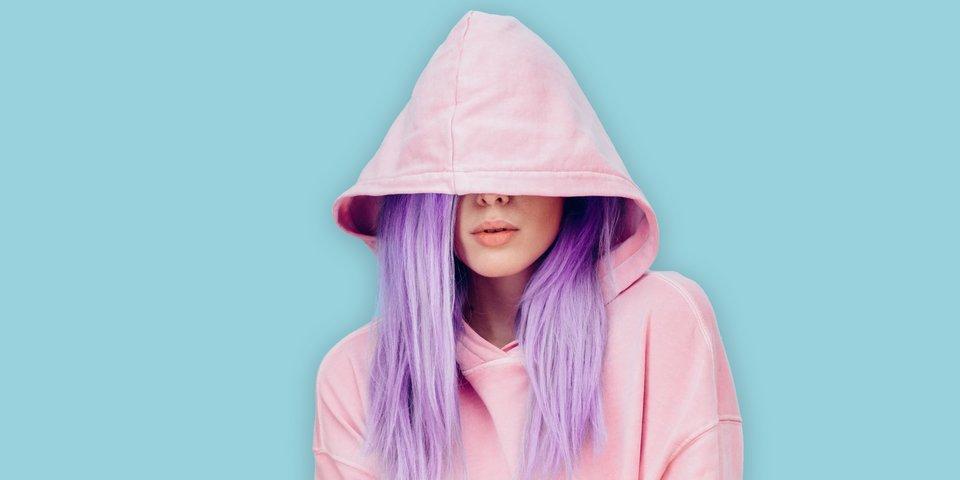 Haarfarbe dunkel lila Friseurbedarf, Haarpflege,