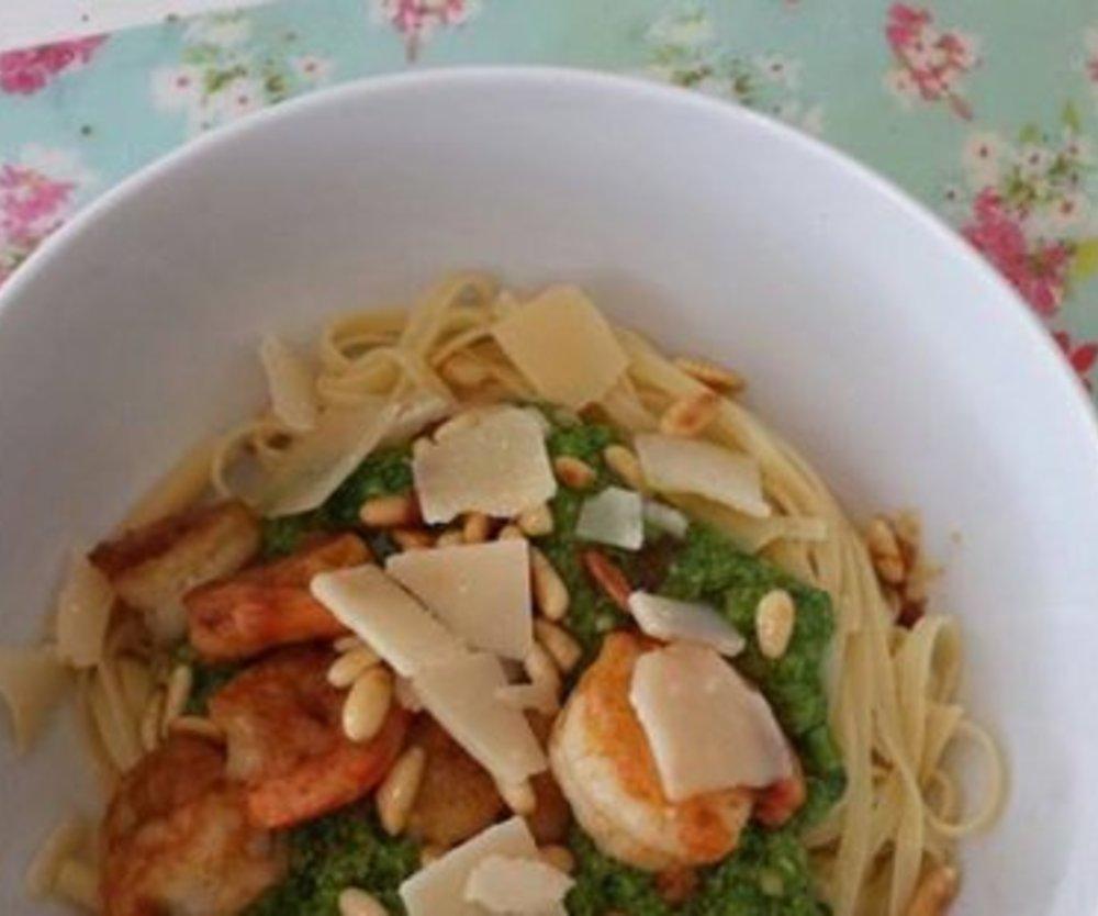 Garnelen mit Spaghetti