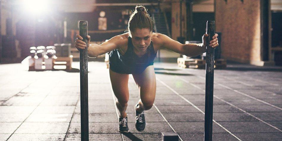 Frau beim Sport