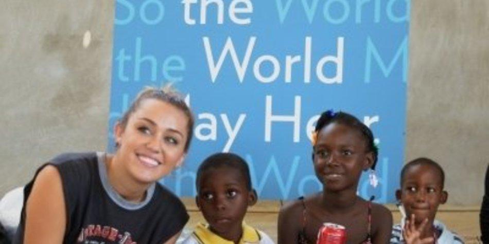 Miley Cyrus tut Gutes