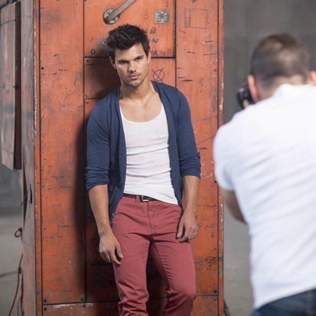 Taylor Lautner beim Shooting
