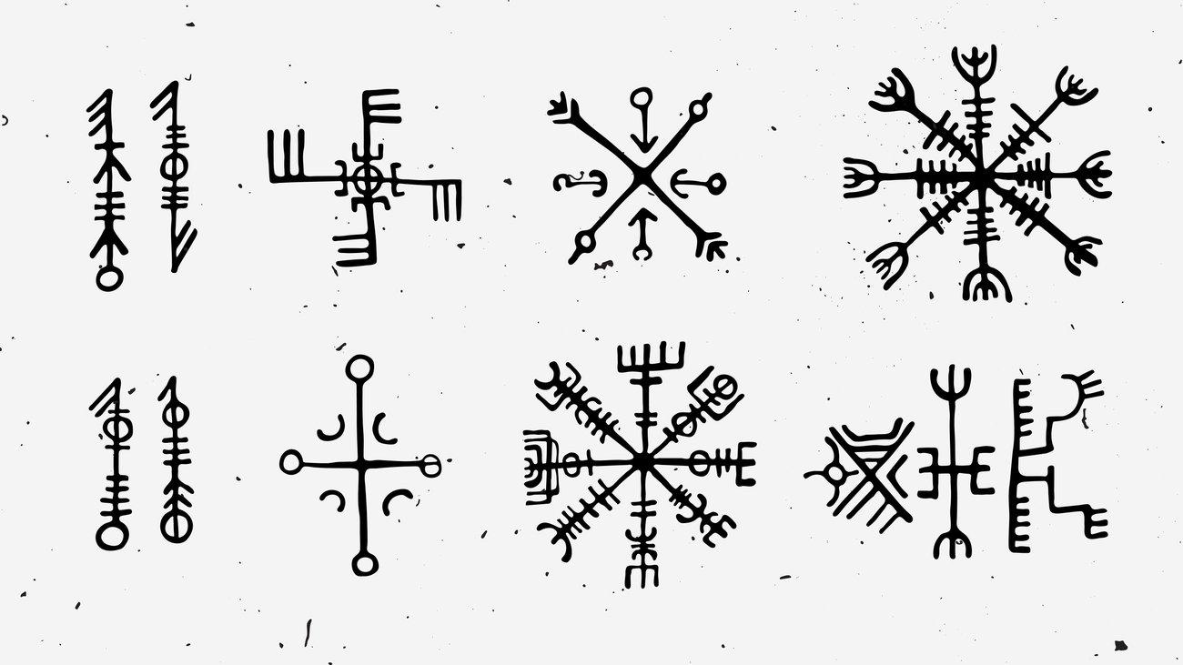 Wikinger-Symbole