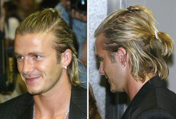 David Beckham mit Man Bun