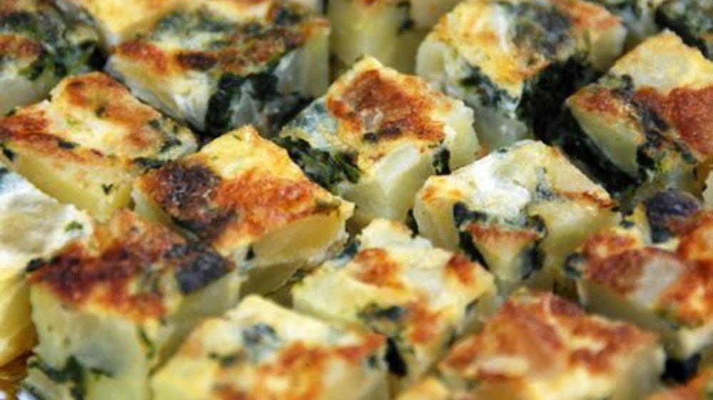 Kartoffelauflauf mit Spinat