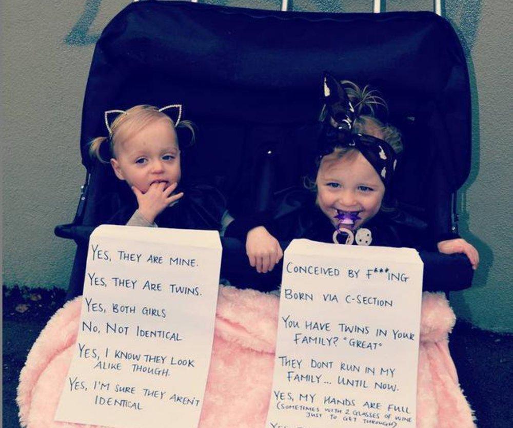 Mutter von Zwillingen postet sarkastisches Foto auf Instagram