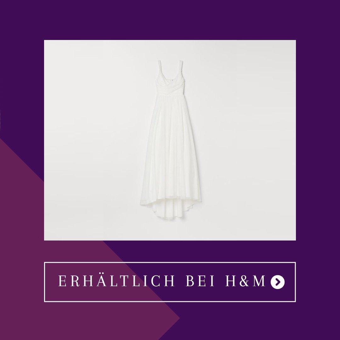 H&M Brautkleid im Wickelschnitt