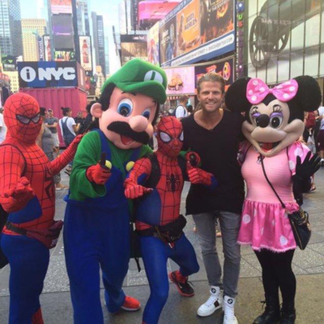 Paul Janke am Times Square